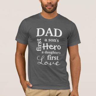 Pai o primeiro de um filho herói o primeiro amor camiseta