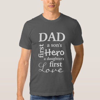 Pai o primeiro de um filho herói o primeiro amor t-shirts