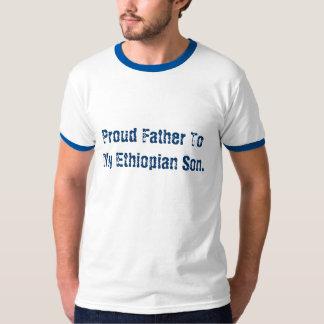 Pai orgulhoso a meu filho etíope camiseta