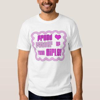 Pai orgulhoso da camisa gêmea das meninas camisetas