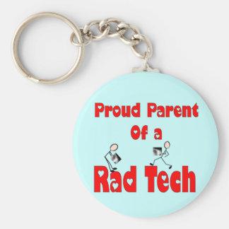 Pai orgulhoso de uma TECNOLOGIA do RAD Chaveiro