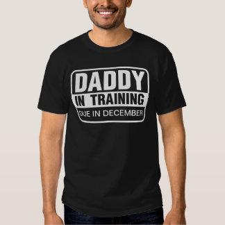 Pai personalizado no treinamento camiseta