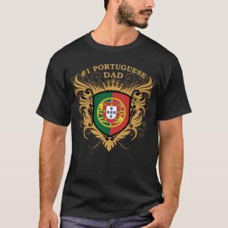 Pai português do número um camiseta