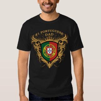 Pai português do número um tshirts