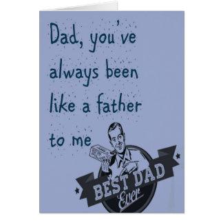 Pai, você foi sempre… Cartão do dia dos pais