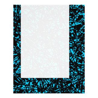 Painel 074 - Linhas abstratas - azul-céu Panfleto Coloridos