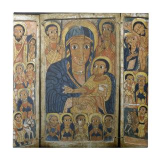 Painel Center do Triptych com Mary e seu filho
