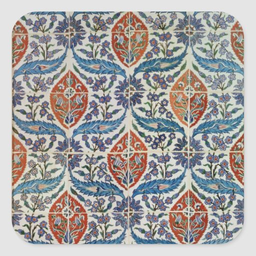 Painel de azulejos do produto de cerâmica de Isnik Adesivo Em Forma Quadrada