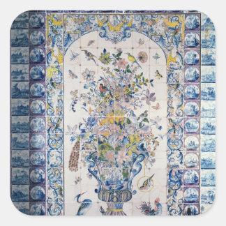 Painel do azulejo de Delft do banheiro Adesivo Quadrado