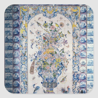 Painel do azulejo de Delft do banheiro Adesivos Quadrados