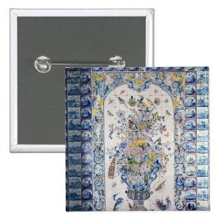 Painel do azulejo de Delft do banheiro Bóton Quadrado 5.08cm