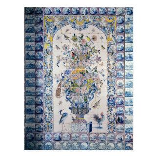 Painel do azulejo de Delft do banheiro Cartão Postal
