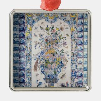 Painel do azulejo de Delft do banheiro Ornamento Quadrado Cor Prata