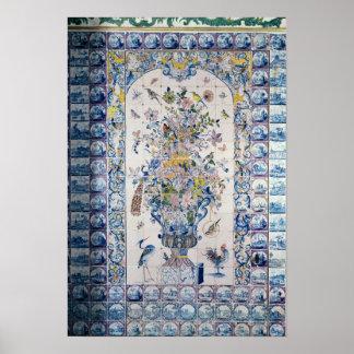 Painel do azulejo de Delft do banheiro Poster