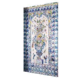 Painel do azulejo de Delft do banheiro Impressão Em Tela Canvas