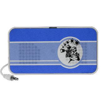 Paintball Azul Caixinhas De Som De Viagem