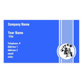 Paintball; Azul Cartões De Visitas