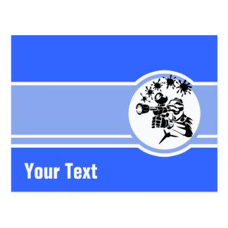 Paintball Azul Cartão Postal