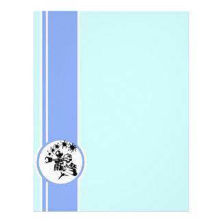 Paintball Azul Modelos De Papel De Carta