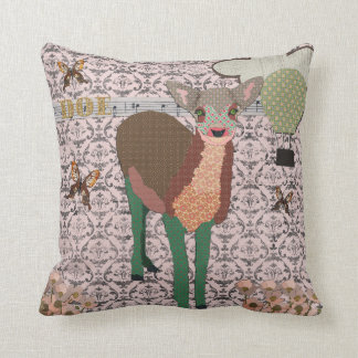 Painted Pink Doe Mojo Pillow