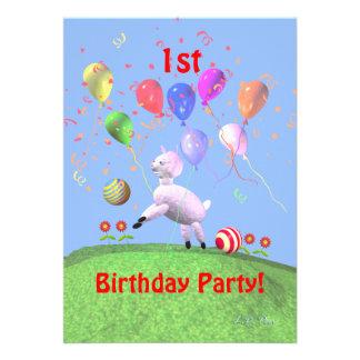 Paira a primeira festa de aniversário para miúdos convites