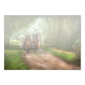 País - cavalo - o passeio do feno convite 12.7 x 17.78cm