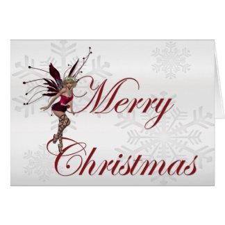 País das fadas 1 do Feliz Natal - cartão de cartõe