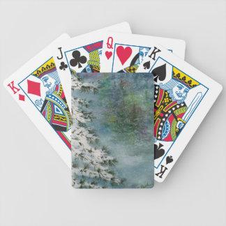 País das maravilhas do inverno baralho para pôquer