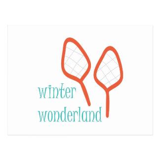 País das maravilhas do inverno cartão postal