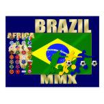 País de Brasil 32 que qualifica os presentes 2010 Cartão Postal