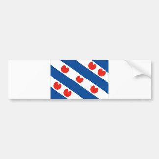 País de Países Baixos da bandeira da região de Fri Adesivo Para Carro