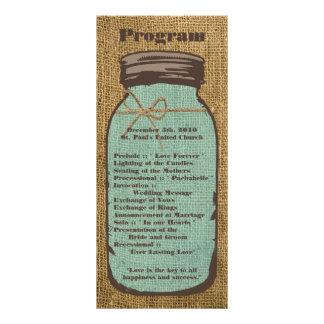 país de serapilheira do frasco de pedreiro do 10.16 x 22.86cm panfleto