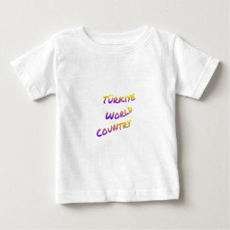 País do mundo de Türkiye, arte colorida do texto Camiseta Para Bebê