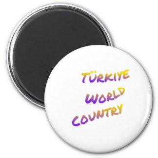 País do mundo de Türkiye, arte colorida do texto Imã