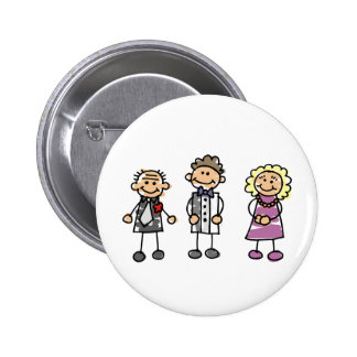 Pais do noivo no dia do casamento botons