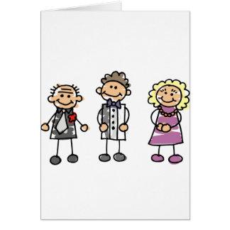 Pais do noivo no dia do casamento cartão