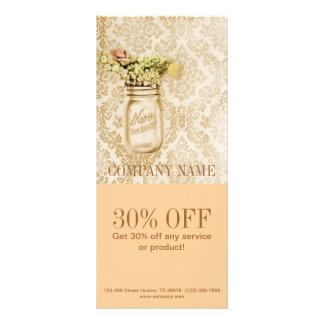 país floral elegante do frasco de pedreiro do dama 10.16 x 22.86cm panfleto