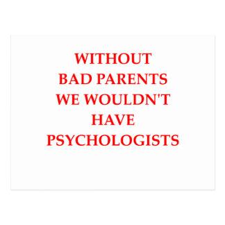 pais maus cartão postal
