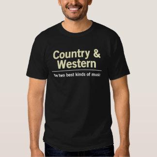 País & ocidental t-shirts