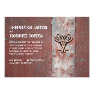 País pintado de madeira em convites das chaves de