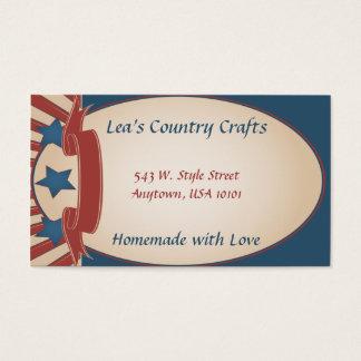 País referente à cultura norte-americana cartão de visitas