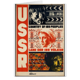 País retro de URSS do vintage de 189 povos Cartoes
