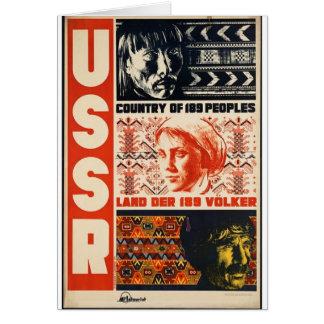 País retro de URSS do vintage de 189 povos Cartão Comemorativo
