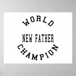 Pais retros legal Pai novo do campeão do mundo Poster
