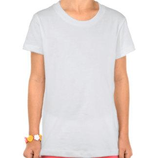País transversal que funciona a camisa cor-de-rosa t-shirts