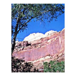 País vermelho da rocha - parque nacional do recife panfletos personalizados