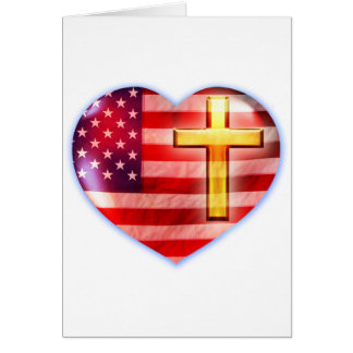 Paisagem #1 do coração cartão comemorativo