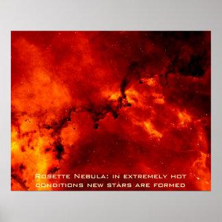 """Paisagem 20"""" do poster da nebulosa do Rosette x 16"""