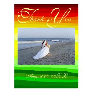 Paisagem abstrata colorida - obrigado cartão