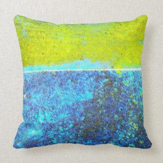 Paisagem amarela e azul almofada